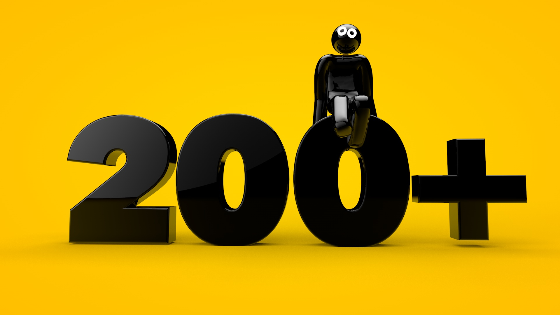 sitting on the 200